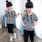 เสื้อ+กางเกง สีดำ แพ็ค 5 ชุด ไซส์ 120-130-140-150-160