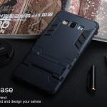 เคส Samsung Galaxy J5 เคสกันกระแทกแยกประกอบ 2 ชิ้น ด้านในเป็นซิลิโคนสีดำ ด้านนอกพลาสติกเคลือบเงาโลหะเมทัลลิค มีขาตั้งสามารถตั้งได้ สวยมากๆ เท่สุดๆ ราคาถูก ราคาส่ง
