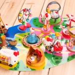 Hello kitty amusement Playground park figure PVC model ตุ๊กตาโมเดลคิตตี้คอลเลกชั่นสวนสนุก 11 pcs.