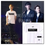 เสื้อยืด EXO PLANET #2 The EXO' LuXion สีขาว (ระบุชื่อศิลปิน)