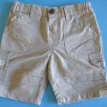 EXSP198 Be Be Extreme (Baby Extreme) กางเกงขาสั้น ผ้าเวสปอยท์เนื้อบาง สีกากี ผ้ามีลายในตัว ดีไซน์สไตล์คาร์โก้ เหลือ Size 12M/24M