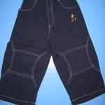 LES086 LES ENPhANTS - Disney Baby กางเกงขายาวสีกรมท่าเดินตะเข็บสีขาว ปักลายมิคกี้เมาส์ ผ้าเนื้อดีมาก ๆ เหลือ Size 1 ขวบ