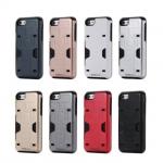 เคส iPhone 6,เคส iPhone 6s เคสกันกระแทกแยกประกอบ 2 ชิ้น ด้านในเป็น TPU สีดำ ด้านนอกพลาสติกเคลือบเงาโลหะเมทัลลิค ราคาถูก