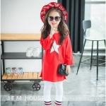 เสื้อ สีแดง แพ็ค 5ชุด ไซส์ 7-9-11-13-15