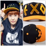 หมวกEXO XOXO(สีดำโลโก้สีส้ม)