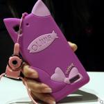 เคส OPPO R7 / R7 Lite ซิลิโคน TPU 3 มิติ แมวน้อยมีหูแสนน่ารัก ราคาถูก (ไม่รวมสวยคล้อง)