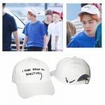 หมวกแฟชั่นเกาหลี หมวกเบสบอล BTS JIMIN สีขาว