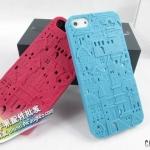 case iphone 5 เคสไอโฟน5 เคสลายฉลุรูปเมือง แนวๆ New city three-dimensional 3D