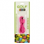 Golf สายชาร์จ Micro USB (Golf Micro USB Charging Cable) สีชมพู