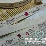 ป้ายผ้า Zakka ญี่ปุ่น ลาย Handmade / Made By Hand 1 เมตร 22 บล็อก