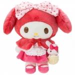 ตุ๊กตามายเมโลดี้ NEW My Melody Plush Toy Little Red Riding Hood (Fairy tale dome) SANRIO Japan