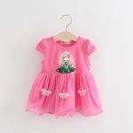 ชุดเดรสลายเด็กผู้หญิงสีชมพู [size 6m-1y-2y-3y]