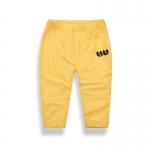 กางเกงเด็กสีเหลืองปักค้างคาว [size 2y-3y-4y-5y-6y-7y]