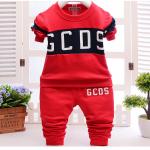 เสื้อ+กางเกง สีแดง แพ็ค 4ชุด ไซส์ 100-110-120-130