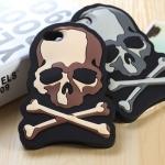 case iphone 5 เคสไอโฟน5 เคสหัวกระโหลกไขว้เท่ๆ skeleton iphone5 Silicone case