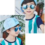 แว่นตา (UV400) กรอบสีขาวเลนส์สีฟ้า แพ็ค 5อัน ฟรีไซส์