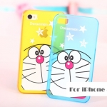 เคสไอโฟน4 case iphone 4s พลาสติกลายโดราเอมอน สีเหลือง สีฟ้า น่ารักมากๆ -B-