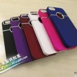 case iphone 5 เคสไอโฟน5 เคสโลหะ ตัดเส้นขอบเงินที่กล้องและรูโชว์โลโก้ด้านหลัง สวยมาก มีหลายสี