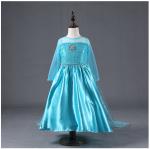 ชุดกระโปรง สีฟ้า แพ็ค 5ชุด ไซส์ 100-110-120-130-140 (เลือกไซส์ได้)