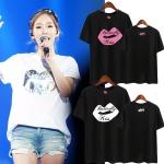 เสื้อยืด (T-Shirt) รูปปาก Butterfly Kiss แบบ Taeyeon