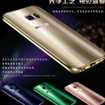 เคส Samsung S6 Edge Plus ขอบเคสโลหะ Bumper + พร้อมแผ่นฝาหลังเงางามสวยจับตา ราคาถูก
