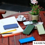 Case Samsung Galaxy A8 แบบฝาพับพลาสติกโปร่งใสสีพาสเทล ราคาถูก ราคาส่ง