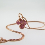 จี้ทับทิม (Pink Ruby Pendant gild with Pink Gold)