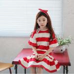 ชุดกระโปรง สีแดง แพ็ค 5 ชุด ไซส์ 110-120-130-140-150
