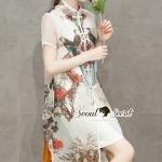 [พร้อมส่ง] เดรสแฟชั่นเกาหลี เซ็ทเดรส 2 ชิ้นสไตล์สาวผู้ดี ตัวเสื้อด้านนอกเนื้อผ้าโพลีเอสเตอร์เนื้อผ้าสวยดูมีราคา สวยเก๋สไตล์สาวเอเชีย