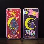 เคส iPhone 6s / iPhone 6 (4.7 นิ้ว) พลาสติกลายการ์ตูนแมวเหมียวเซเลอร์มูน ราคาถูก