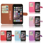 เคส iPhone 7 Plus (5.5 นิ้ว) แบบฝาพับด้านข้างหนังเทียมสีพื้นคลาสสิค ด้านในสามารถใส่บัตรได้ควรมีไว้สักอัน ราคาถูก