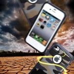 Case iPhone 4s / 4 เคสกันกระแทกแยกประกอบ 2 ชิ้น ด้านในเป็นซิลิโคนสีดำ ด้านนอกพลาสติกลายทหาร ลายพราง สวย แกร่ง ถึก ราคาถูก ราคาส่ง ราคาปลีก