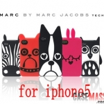 case iphone 5 เคสไอโฟน5 เคส MARC JACOBS สุดฮิต ยอดนิยม มาแรงสุดๆ ซิลิโคน 3D นิ่มๆ สวยๆ MARC JACOBS the cute dog Penguins iphone5 animal mobile phone