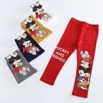 กางเกงขายาวลายผองเพื่อนดิสนี สีแดง [size: 2Y-3Y-4Y-5Y-6Y]