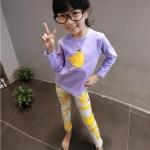 เสื้อ+กางเกง สีม่วง แพ็ค 5ชุด ไซส์ 7-9-11-13-15