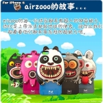 case iphone 5 เคสไอโฟน5 airzooo monster family เคสซิลิโคน 3D ลายสัตว์หลอนๆ
