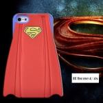 เคส iphone 4 เคสไอโฟน4s ซิลิโคน 3D ซูปเปอร์แมนผ้าคลุมสีแดง ฟ้า ชมพู เท่ๆ แนวๆ Super man Silicone 3D -B-