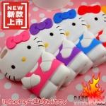 case iphone 5 เคสไอโฟน5 เคสซิลิโคน 3D Hello Kitty สีหวาน ตัวใหญ่ สวยๆ น่ารักๆ 3D Hello Kitty Sanrio Silicone