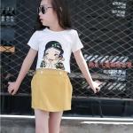 เสื้อ+กางเกง สีเหลือง แพ็ค 5 ชุด ไซส์ 120-130-140-150-160