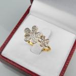 แหวน 9K ดอกไม้2ดอก