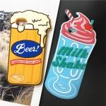 Case iPhone 7 (4.7 นิ้ว) เบียร์ มิลค์เชค น่ารักน่ากินมากๆ ราคาถูก