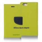 เคสฝาพับ iPhone 6 Goospery Fancy Diary สีเขียวมะนาว by Mercury
