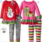เสื้อ+กางเกง คริสต์มาส P31391 แบบB แพ็ค 5 ชุด ไซส์ 90-100-110-120-130 (เลือกไซส์ได้)