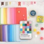 Tin Case_Masking Sticker Set (Solid)