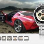 นาฬิกาข้อมือชายแฟชั่น Shank Sport watch SH109