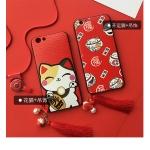 Case OPPO F1s พลาสติก TPU ลายการ์ตูนพร้อมที่ห้อย Lucky cat เฮงๆ เข้าชุดน่ารักๆ ราคาถูก (ไม่รวมสายห้อยคอ)