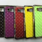 เคส Samsung Galaxy E5 พลาสติกเคลือบโลหะเมทัลลิคประดับคริสตัลสวยงาม ราคาถูก