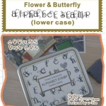 Flower & Butterfly Alphabet Stamp (LOWER)