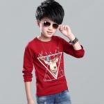เสื้อ สีแดง แพ็ค 5 ชุด ไซส์ 120-130-140-150-160