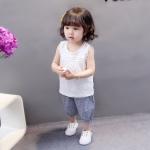 ชุดเซตเด็กกางเกงสีคราม [size 6m-1y-2y-3y]